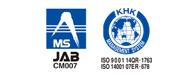 MS JAB CM007 KHK ISO9001、ISO14001認証取得